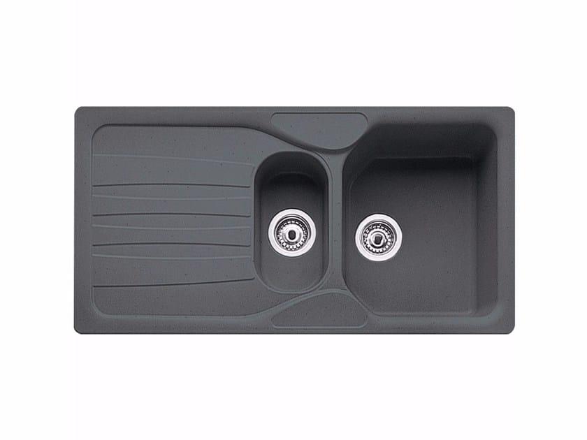 Lavello a una vasca e mezzo da incasso in Fragranite® con sgocciolatoio COG 651 by FRANKE
