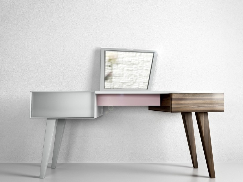 Wooden dressing table COIFFEUSE by Secondome Edizioni