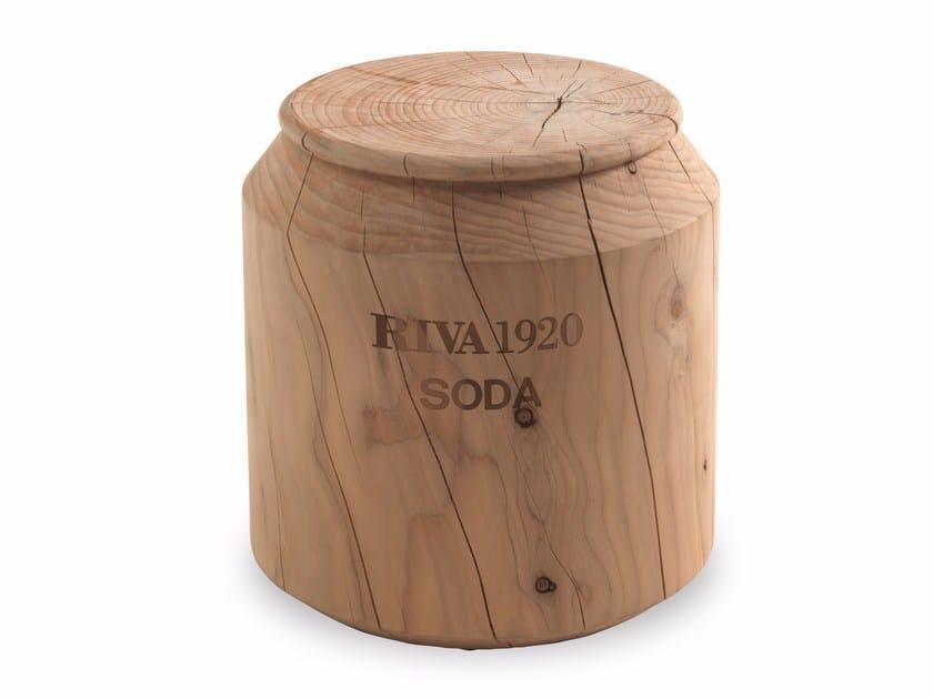 Low cedarwood stool COLA by Riva 1920