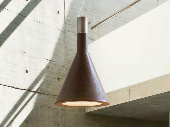 Cement pendant lamp FUNNEL by Aldo Bernardi