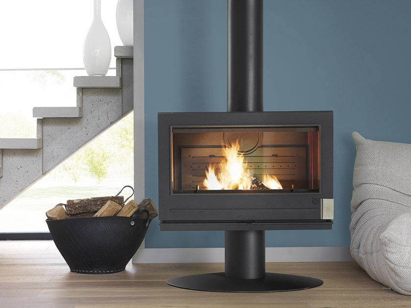 Wood-burning Central Class A cast iron stove COLETTE by CAMINETTI MONTEGRAPPA