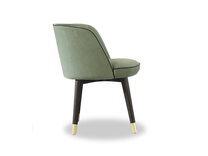 Leather easy chair with armrests COLETTE | Easy chair by BAXTER