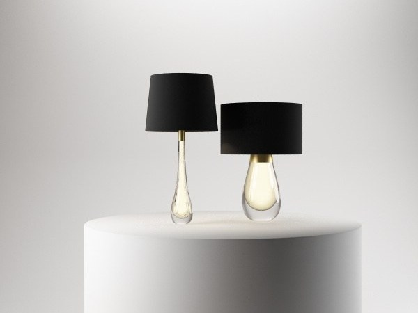 Crystal table lamp COLETTE & HUGO by Paolo Castelli