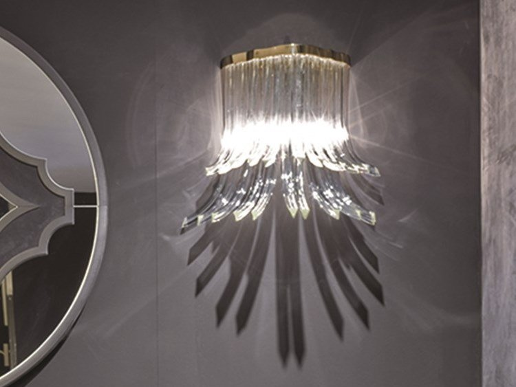 Crystal wall lamp COLETTE by Longhi