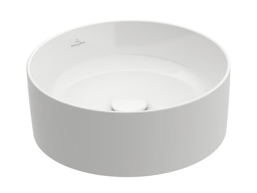Countertop round TitanCeram washbasin COLLARO | Round washbasin by Villeroy & Boch