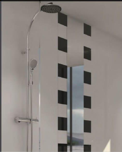 Miscelatore per doccia cromo in acciaio in stile moderno con doccetta con finitura lucida COLLECTION O | Miscelatore per doccia by INTERCONTACT