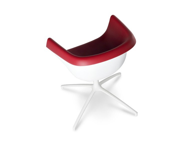 Swivel trestle-based polyurethane chair with armrests COLLIER SPIDER by Casprini