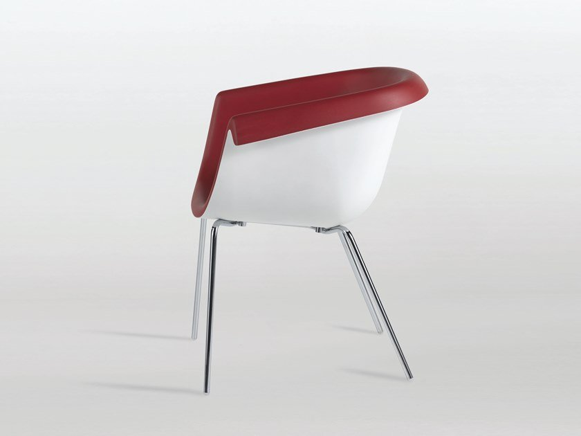 Polyurethane chair with armrests COLLIER TUBE by Casprini