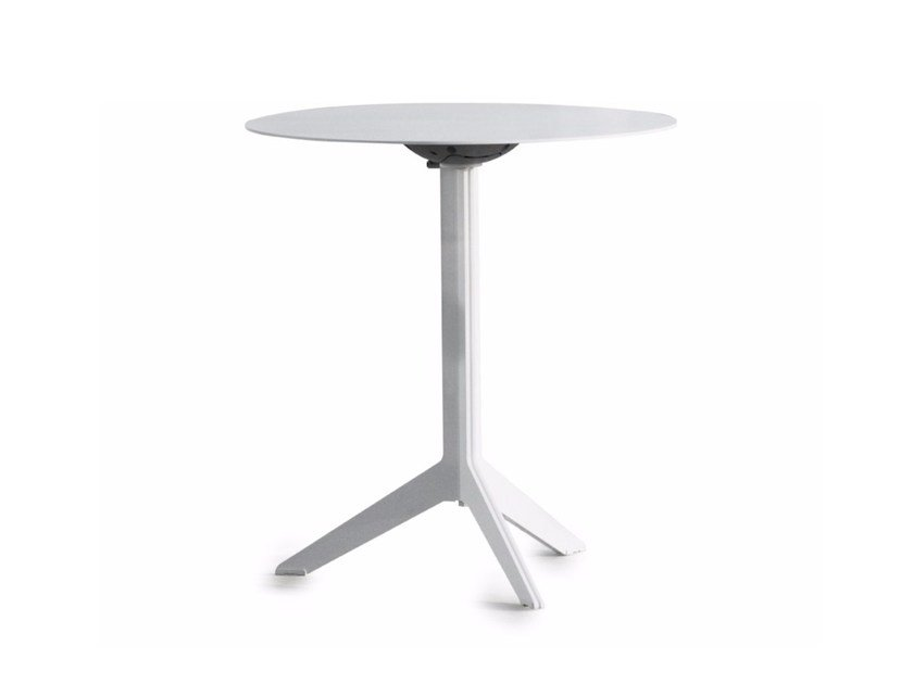 Folding round aluminium garden table COLLINS by Joli