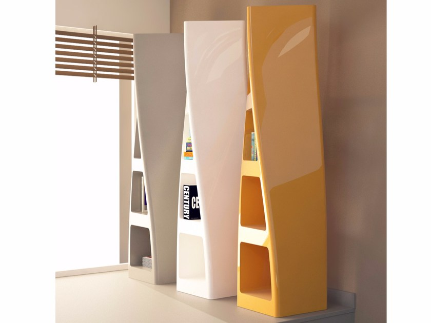 Freestanding double-sided Adamantx® bookcase COLLINS by ZAD ITALY