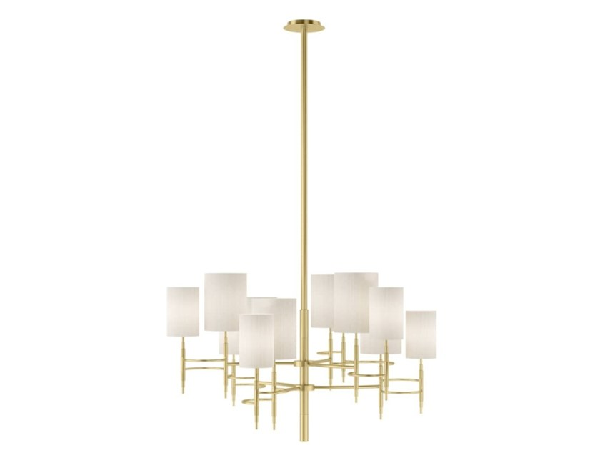 Indirect light brass chandelier COLOGNE by FRATO