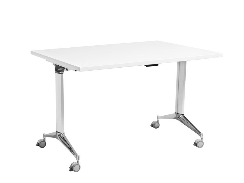 Drop-leaf meeting table with casters COLOMBIA by AP Factor