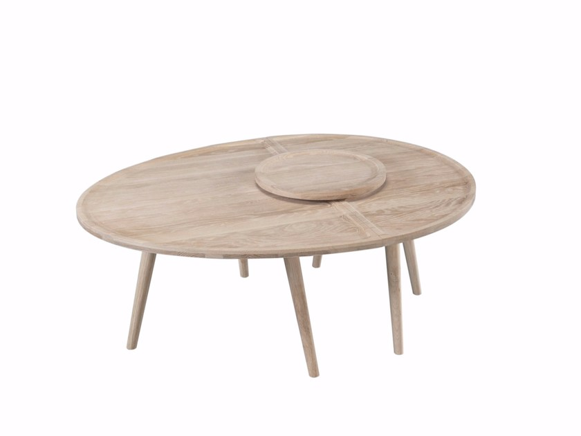 Solid wood coffee table with tray COLOMBO by Wewood