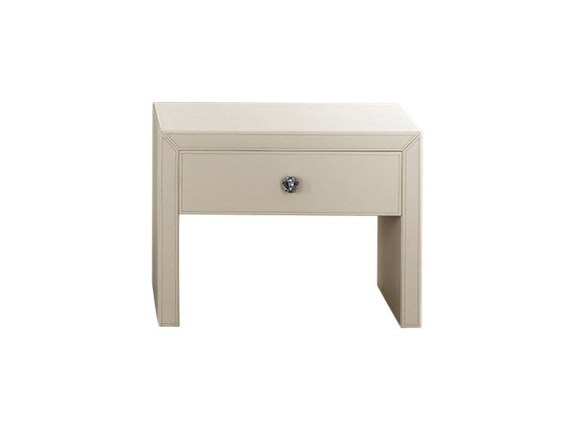 Lacquered rectangular wood-product bedside table with drawers COLONIA | Bedside table by Chaarme Letti