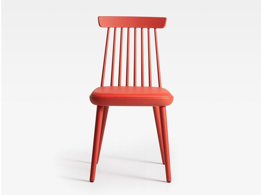 Lacquered wooden chair with integrated cushion COLONIAL   Lacquered chair by SIPA