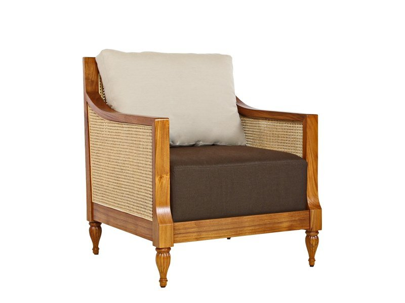 Armchair with armrests COLONIAL | Armchair by WARISAN