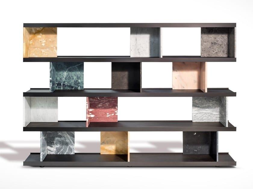 Divider marble bookcase COLONNATA by SALVATORI
