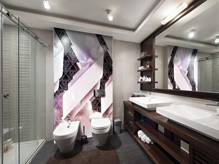 Adhesive Washable Bathroom Wallpaper COLONNE By Wall LCA