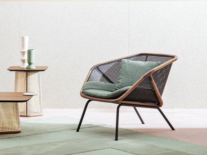 Straw easy chair COLONY | Easy chair by Miniforms