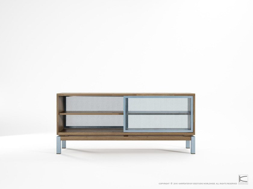 Contemporary style teak sideboard with sliding doors COLOR BE BOP   Sideboard by KARPENTER
