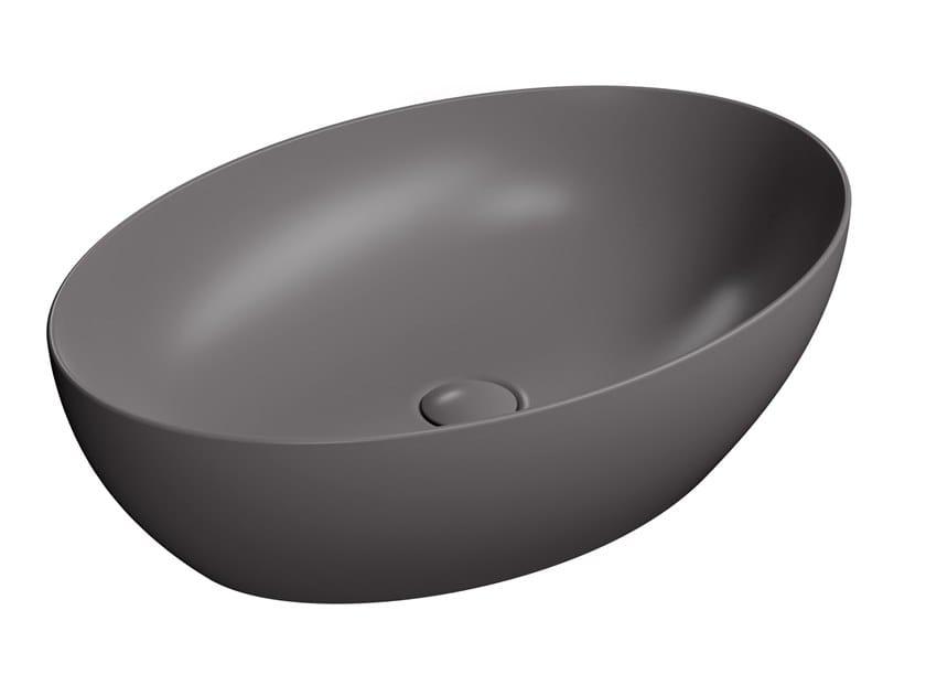 Oval ceramic washbasin PURA 60/TA by GSI ceramica