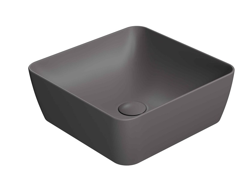 Countertop square washbasin SAND 38/TA by GSI ceramica