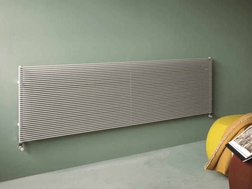 Horizontal wall-mounted decorative radiator COLOR_X | Horizontal decorative radiator by Tubes Radiatori