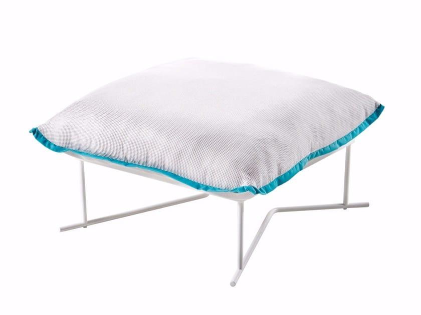 Upholstered fabric pouf COLORADO   Pouf by Varaschin