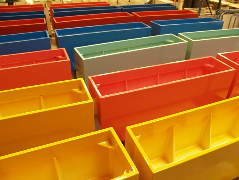 Custom rectangular planter COLORFUL PLANTERS WITH ROUNDED CORNERS | Custom planter by IMAGE'IN