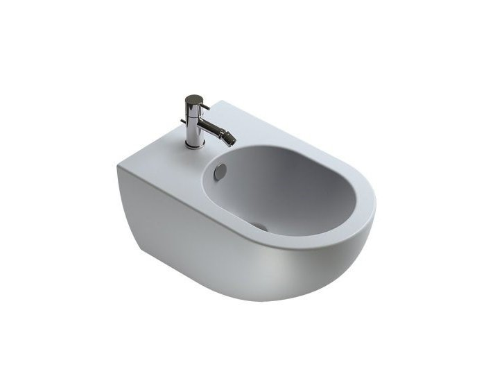 Wall-hung bidet with overflow COLORI | Bidet by CERAMICA CATALANO