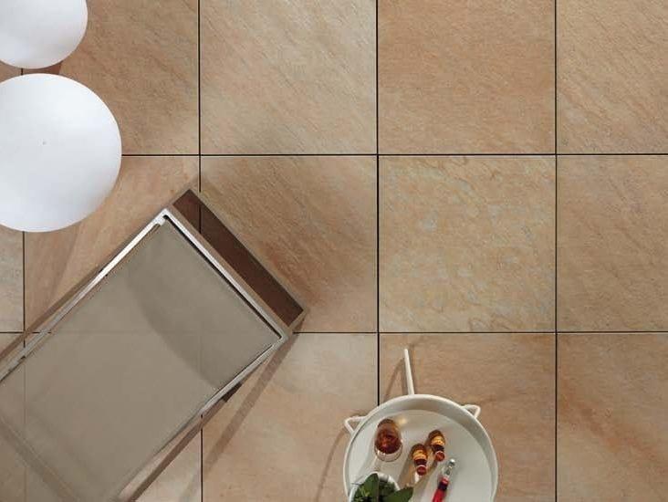 Outdoor floor tiles with stone effect COLOSSEO QUARZITE GIALLA by GRANULATI ZANDOBBIO