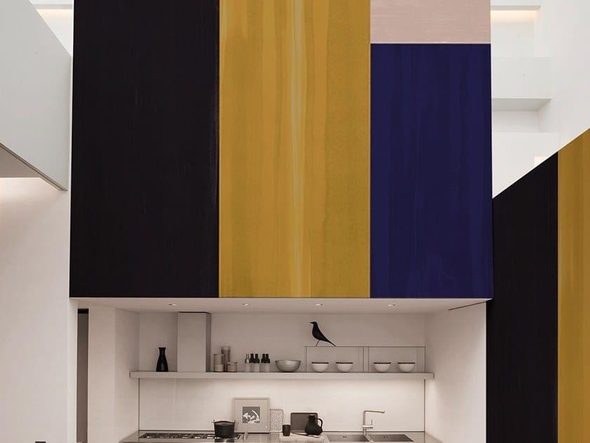 Geometric fire retardant washable wallpaper COLOUR BLOCKS by Texturae