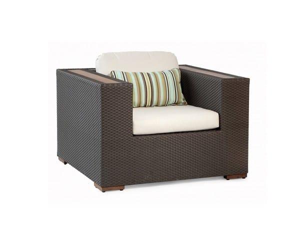 Garden armchair with armrests COLTRANE | Garden armchair by 7OCEANS DESIGNS