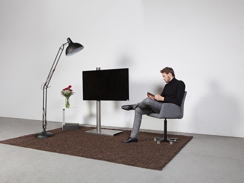 Wissmann Raumobjekte Porta Tv Girevole.Supporto Per Monitor Tv Girevole A Pavimento Column Art118 Es