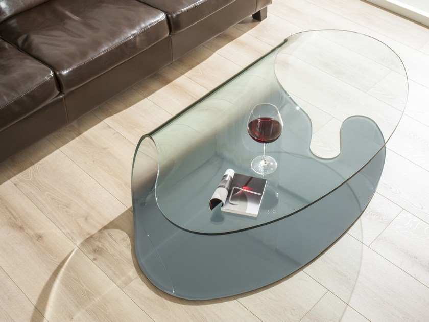 Glass coffee table COMA by IDEAS Group