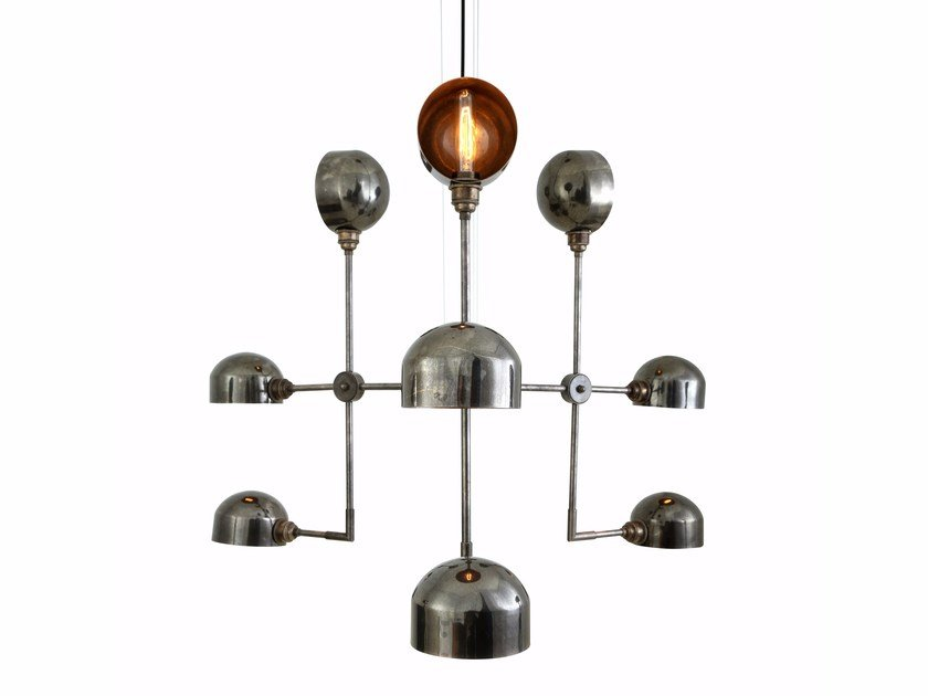 Adjustable brass chandelier COMALA by Mullan Lighting