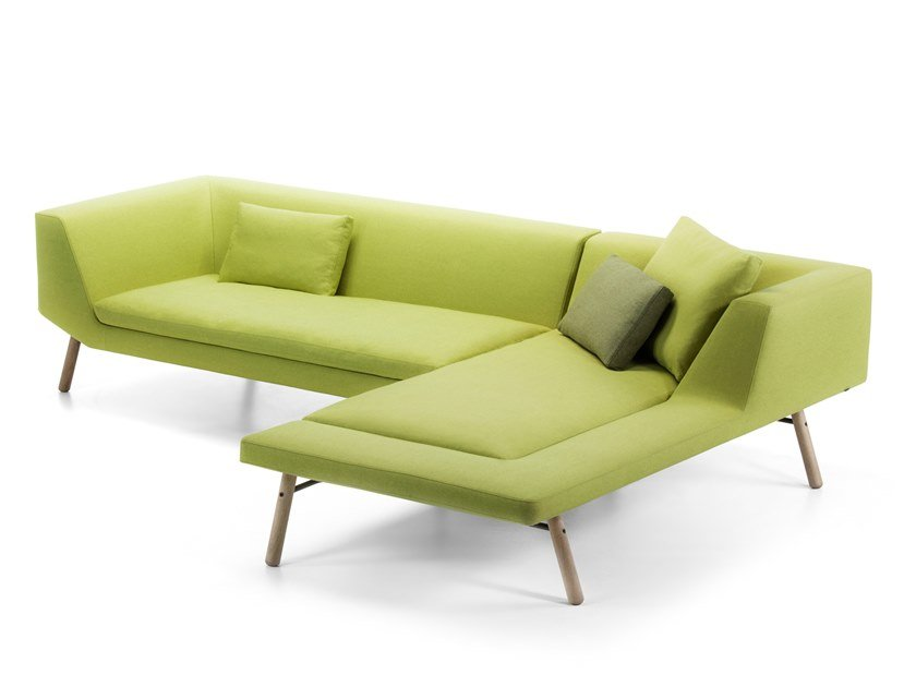 Modular sofa with chaise longue COMBINE | Sofa with chaise longue by prostoria