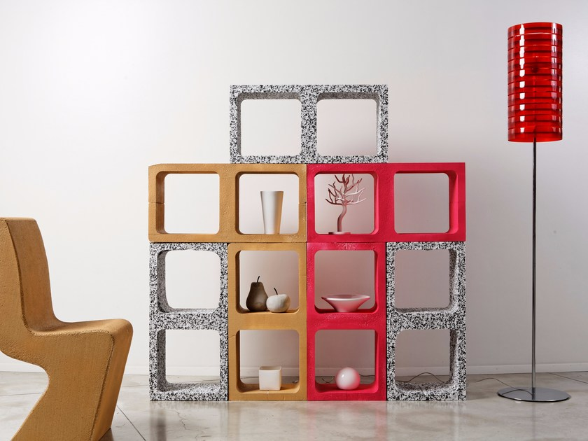 Sectional modular bookcase COMBO by Be Different