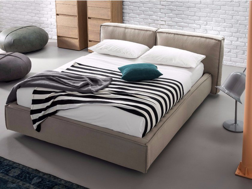 Upholstered fabric double bed COMFORT | Double bed by Dall'Agnese