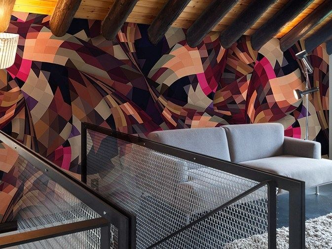 Washable optical vinyl wallpaper COMFORT by GLAMORA