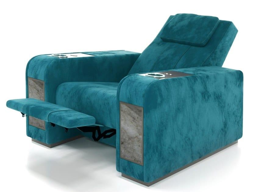 Pleasant Nabuk Home Theater Armchair With Adjustable Backrest Frankydiablos Diy Chair Ideas Frankydiabloscom