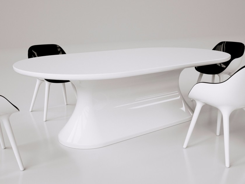 Lacquered Adamantx® living room table COMFORTABLE by ZAD ITALY