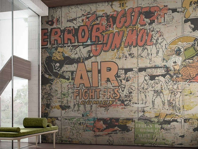 Pop art vinyl wallpaper COMIXOLOGY by GLAMORA