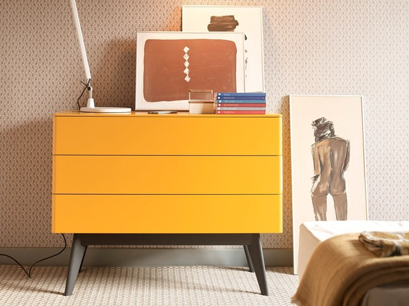 Wooden chest of drawers COMO by HENRI TUJAGUE