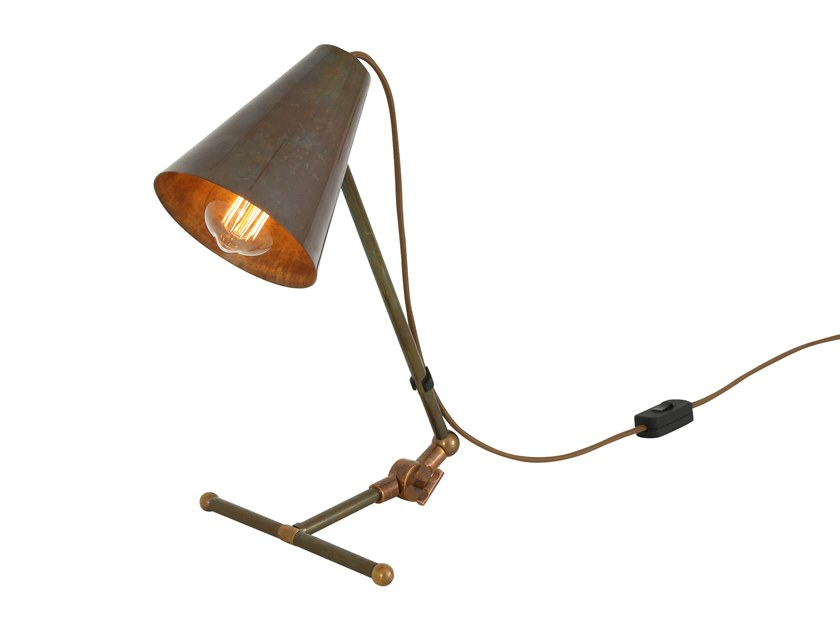 Contemporary style direct indirect light handmade led brass table lamp comoro table lamp table