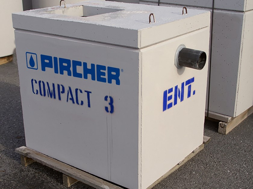 Oil separator, de-oiler and grease separator COMPACT 3,0 by Pircher