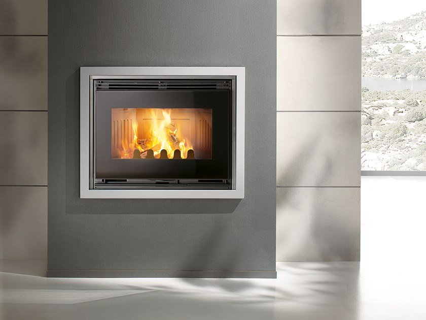 Wood-burning Class A cast iron Fireplace insert COMPACT by CAMINETTI MONTEGRAPPA