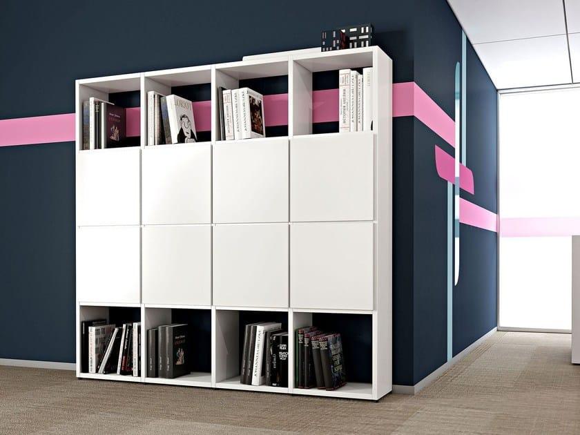 Libreria Ufficio Wenge : Libreria ufficio a giorno modulare compact cubo arcadia