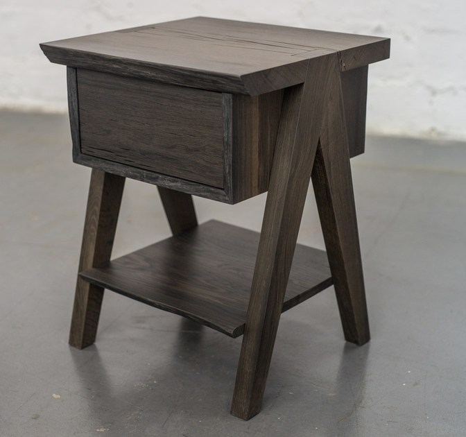 Bog oak side table with drawer COMPASSO by EDWOOD