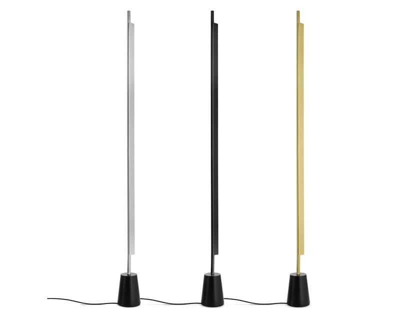 LED adjustable aluminium floor lamp COMPENDIUM | Floor lamp by LUCEPLAN